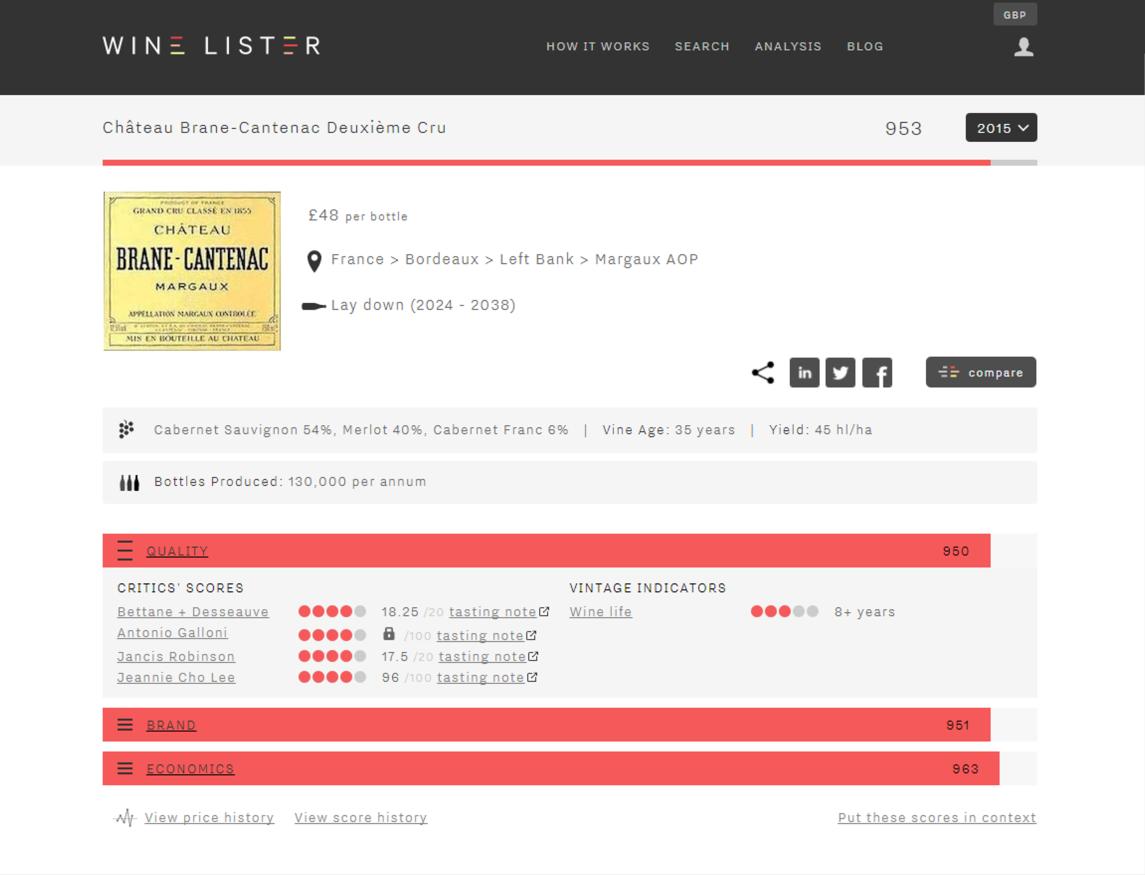 Website wine page image